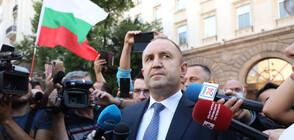Радев пред протестиращите: България не е собственост на олигарсите (ВИДЕО)