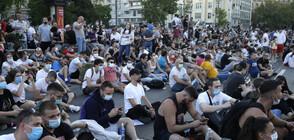 Мирно приключи третата поредна нощ на протести в Белград