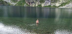 """Турист се изкъпа в езерото """"Бъбрека"""" (СНИМКИ)"""