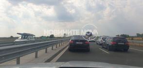 """Две коли катастрофираха на """"Тракия"""" (ВИДЕО+СНИМКИ)"""