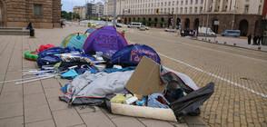 Премахнаха палатковите лагери в цялата страна (ВИДЕО+СНИМКИ)