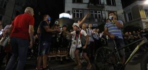 """Шествие и """"патриотичен омлет"""" на протеста в София снощи"""