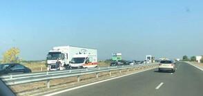 """Две катастрофи предизвикаха задръстване на АМ """"Тракия"""" край Пазарджик"""