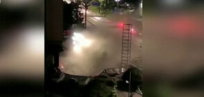 """Път се срути и """"погълна"""" 21 коли (ВИДЕО)"""