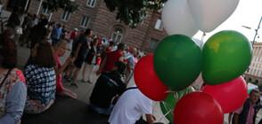 В 50-ИЯ ДЕН НА ПРОТЕСТИ: Балони с цветовете на българското знаме и стена на позора