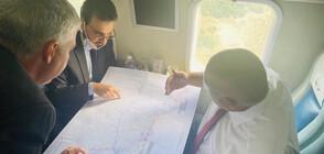 """Борисов инспектира от въздуха строителството на """"Балкански поток"""" (ВИДЕО)"""