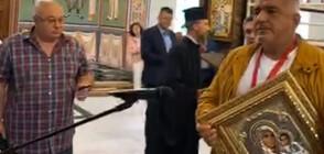 Ловчанският митрополит награди Борисов с орден (ВИДЕО)