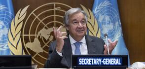 """Шефът на ООН: Човечеството да престане """"да води война с природата"""""""