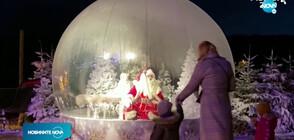 Дядо Коледа посреща по необичаен начин децата в зоопарк в Дания