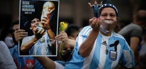 Сблъсъци на поклонението на Марадона, стигна се до сълзотворен газ (ВИДЕО+СНИМКИ)
