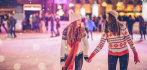В РАЗГАРА НА ПАНДЕМИЯТА: В Москва заработи най-голямата ледена пързалка (СНИМКИ)