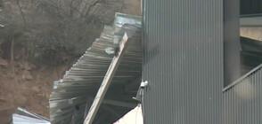 СВЛАЧИЩЕ КРАЙ БЛАГОЕВГРАД: Скали и пръст повредиха сграда