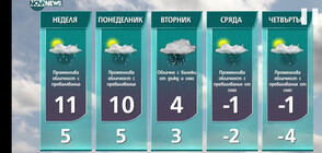Прогноза за времето на NOVA NEWS (22.01.2021 - 21:00)