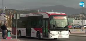 Автоматичен автобус вози пътници в Испания (ВИДЕО)