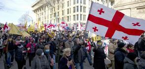 Антиправителствени протести в Грузия (ВИДЕО)