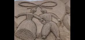 Пижо и Пенда от пясък се появиха на плажа в Бургас (ВИДЕО)