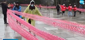 Сплетоха 43-километрова мартеница в Добрич (ВИДЕО)