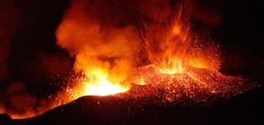 Ново зрелищно изригване на вулкана Етна (ВИДЕО)
