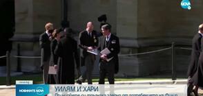 УИЛЯМ И ХАРИ: Принцовете си тръгнаха заедно от погребението на Филип