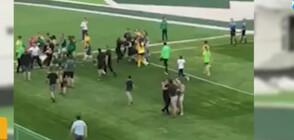 НАСИЛИЕ НА ТЕРЕНА: Пребиха момиче по време на женски футболен мач (ВИДЕО)