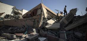 13-етажна сграда в ивицата Газа рухна след бомбардировка, ракети паднаха и в Тел Авив