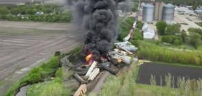 Евакуация след тежка влакова катастрофа в САЩ (ВИДЕО)