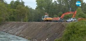 Жители на Герман недоволстват заради почистване на река Искър