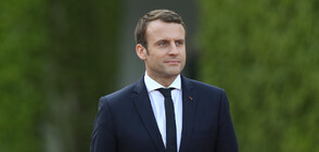 Замериха с яйце френския президент Еманюел Макрон