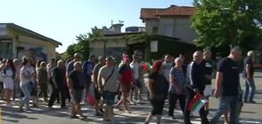 Жителите на Обзор блокираха пътя Варна - Бургас в знак на протест (ВИДЕО)