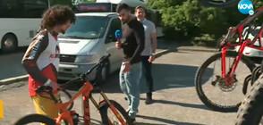 Багажници за велосипеди в автобус от градския транспорт в София