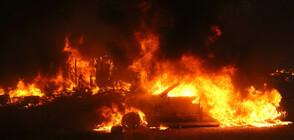 Голям пожар бушува край Свиленград (ВИДЕО)