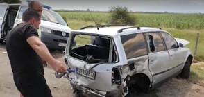 """ПРИ ГОНКА С ПОЛИЦИЯТА: Шофьор предизвика тежка катастрофа на """"Тракия"""", има ранени (ВИДЕО)"""