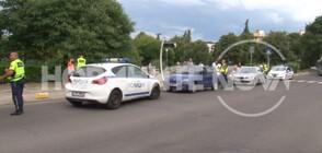 Блъснаха две деца на пешеходна пътека в Бургас (СНИМКИ)