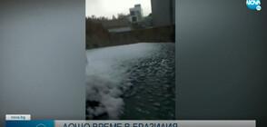НЕОБИЧАЙНО ЯВЛЕНИЕ: Градушка и сняг удариха Бразилия (ВИДЕО)