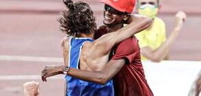 ЗА ПЪРВИ ПЪТ: Двама олимпийски шампиони в скока на височина (СНИМКИ+ВИДЕО)