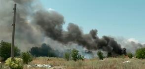 Пламъци на метри от летището в София (ВИДЕО)
