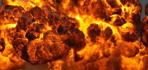 Гори нефтено съоръжение в Ливан (ВИДЕО)