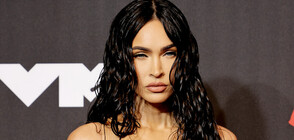Меган Фокс се появи с прозрачна рокля на наградите на MTV (СНИМКИ)