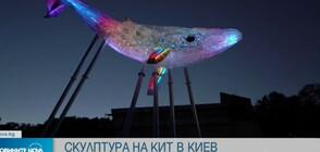 Направиха скулптура на кит от 1 тон пластмаса (ВИДЕО)