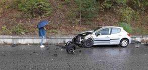 Четирима ранени след челен удар на пътя Банско - Гоце Делчев (СНИМКИ)