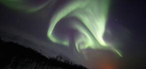 Заснеха удивителното Северно сияние над Мурманск (ВИДЕО)