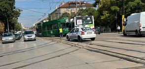 Трамвай и автобус се удариха в София (ВИДЕО+СНИМКИ)