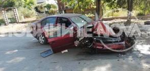 Шофьор без книжка заби кола в крайпътни дървета