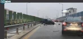 """Тежка катастрофа на булевард """"Брюксел"""" в столицата (ВИДЕО)"""