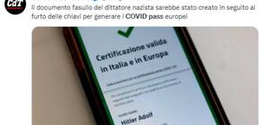 Издадоха зелен сертификат на Адолф Хитлер (СНИМКИ)