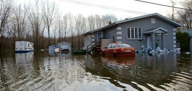 Евакуираха повече от 1500 души в Източна Канада заради наводнения