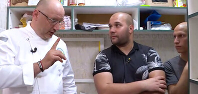 """Шеф Манчев на ръба на нервна криза в епизода тази вечер на """"Кошмари в кухнята"""""""
