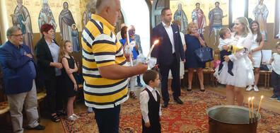 Борисов стана кръстник на внуците си (СНИМКИ)