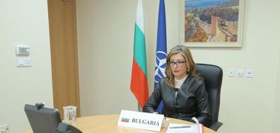 Захариева: Гражданите очакват НАТО активно да се включи в борбата с COVID-19