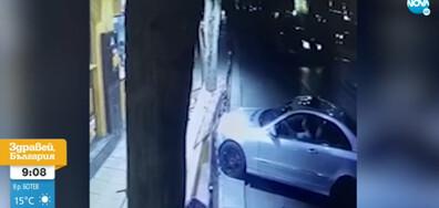 Пиян шофьор се вряза в дюнерджийница в Пловдив (ВИДЕО)